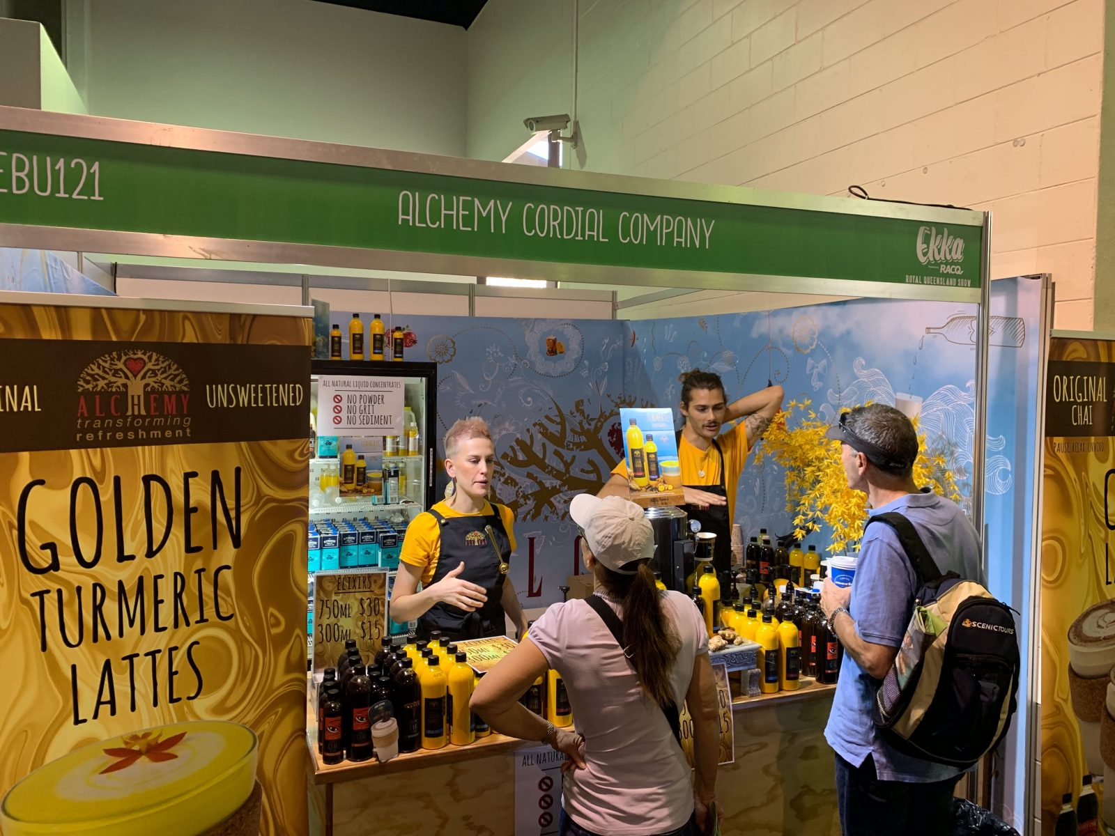 Some of our team sampling at the Ekka