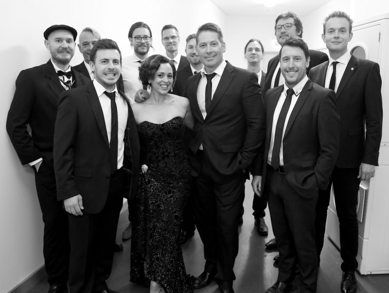 The Band, back stage prior to our 2nd sold out performance