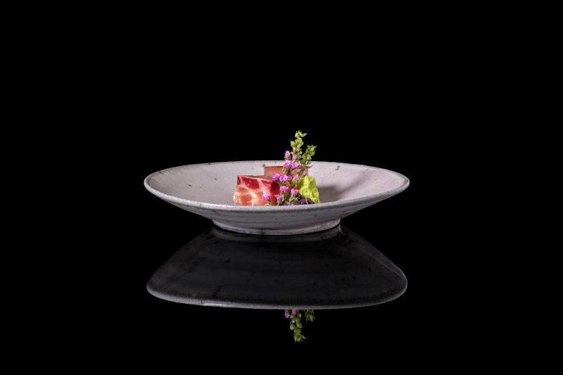 Japanese style dish by Zaiyu Hasegawa with Daniel Jarrett