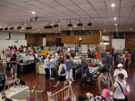Indoor stalls at the Toowoomba market
