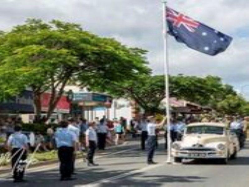 The very poignant Australia Day flag-raising