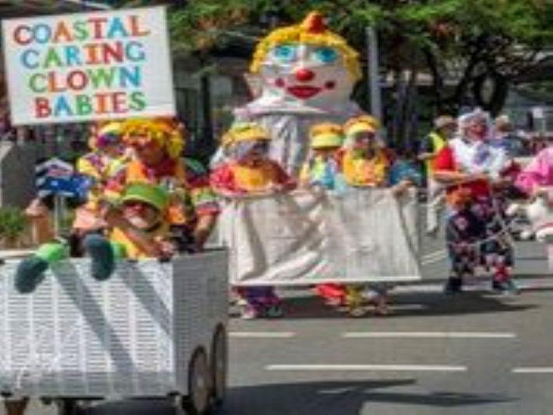 Buderim Australia Day parade Clowns