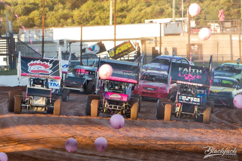 Start of a race at Pink Night