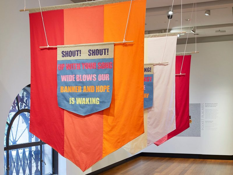 Rachael Haynes, Threads of Resistance exhibition at Museum of Brisbane