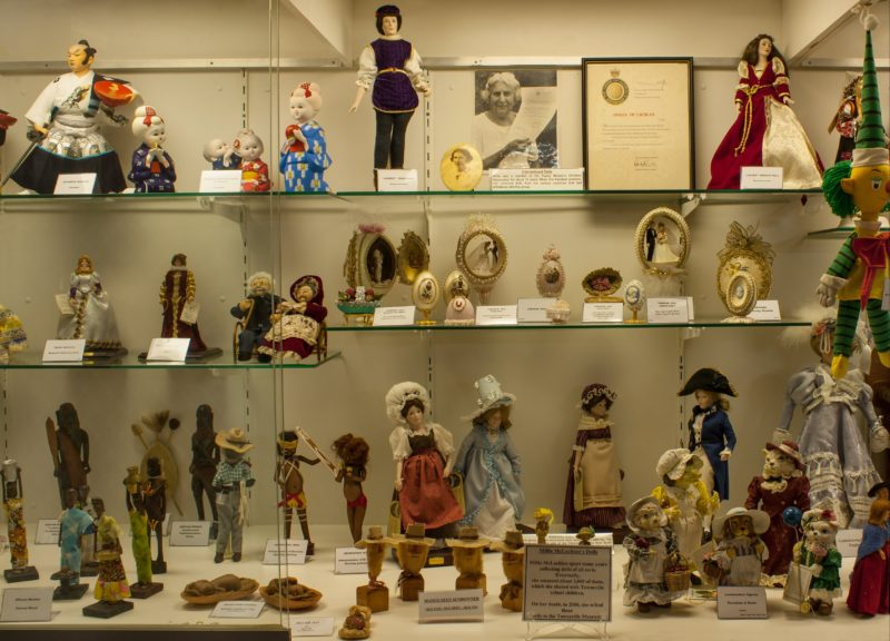 This collection was donated by Millie McLachlan who collected dolls from all over the world.