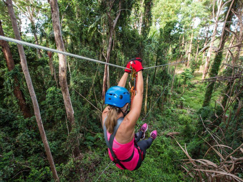 10 Huge ziplines through rainforest