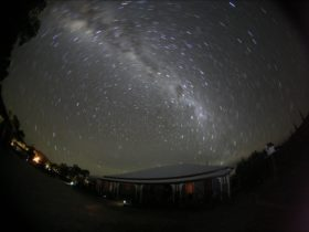 Guests can enjoy beautiful starry nights from the Guesthouse.