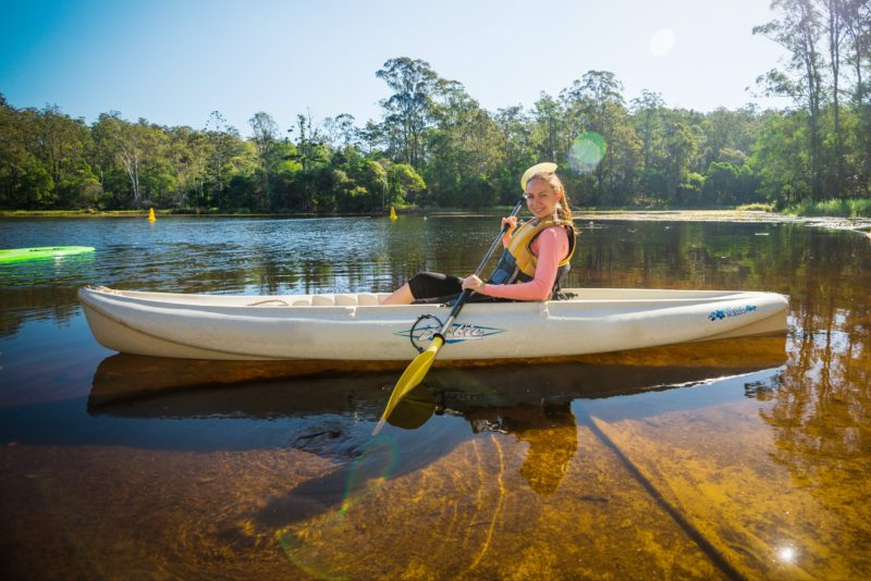 Kayaker at Enoggera Reservoir