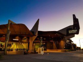 Waltzing Matilda Centre at sundown