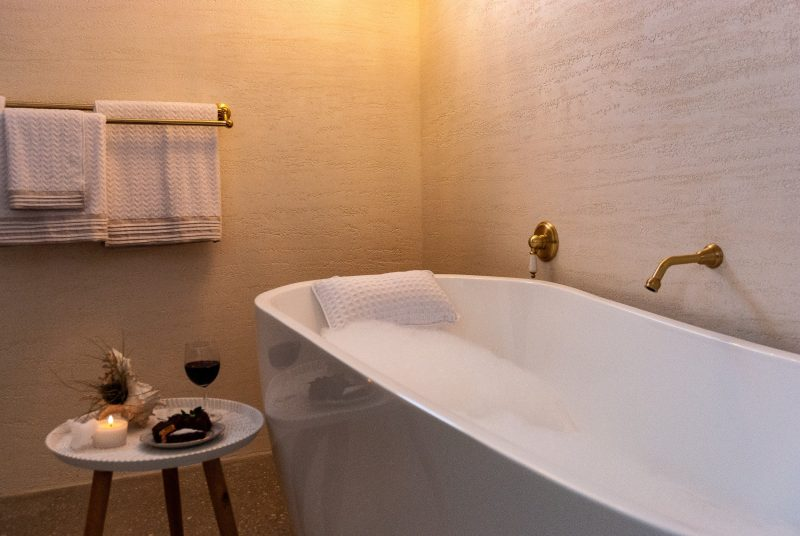 Enjoy a luxurious bubble bath