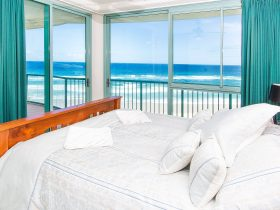 Waterford on Main Beach - Master Bedroom showing Balcony & Ocean Views