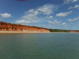 Red cliffs at Weipa