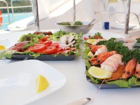 Prawn & bug platter with salad