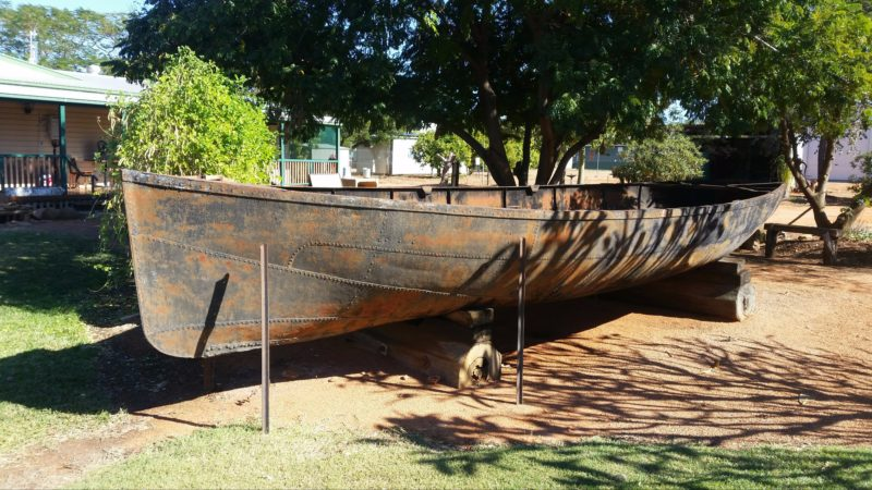 The Cooper Queen, a large round bilge bottomed boat made of iron