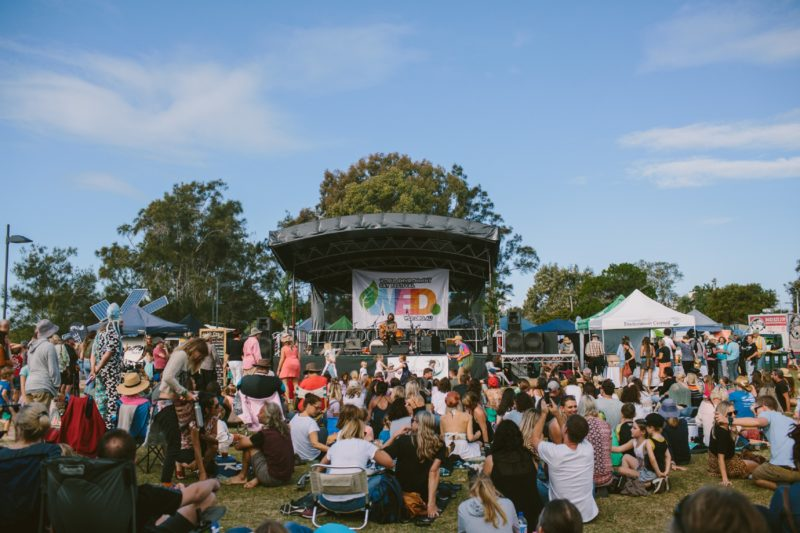 The crowd enjoying main stage at World Environment Day