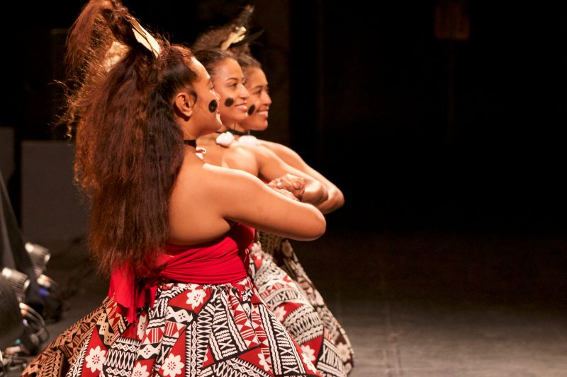 Beautiful dancers from VOU Dance from Fiji perform at WOW Australia 2018