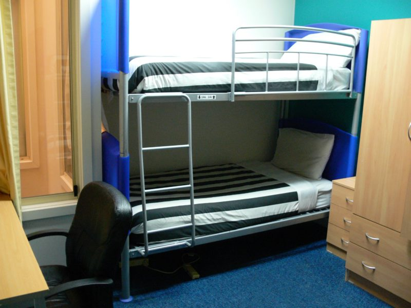 Hostel 109 Dormitory Room with two double bunk beds.
