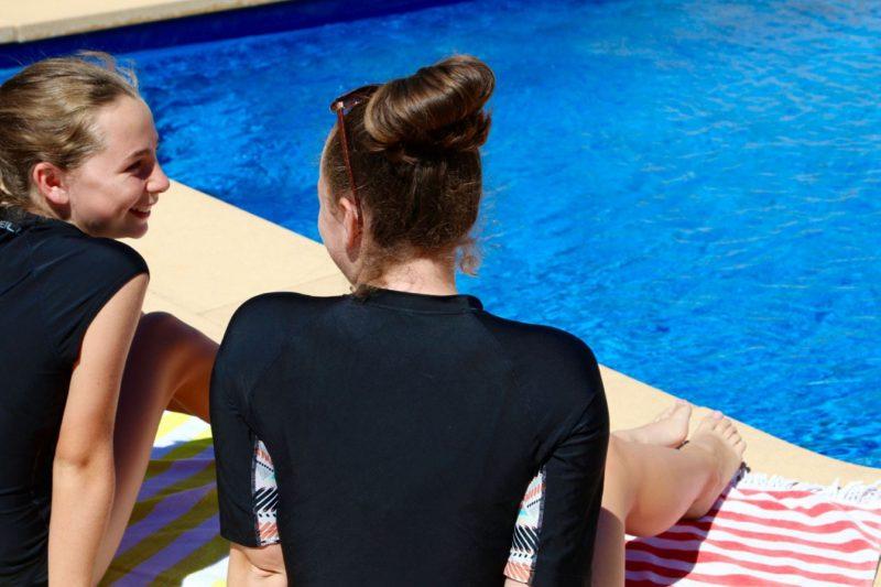 Solar heated pool in Robe