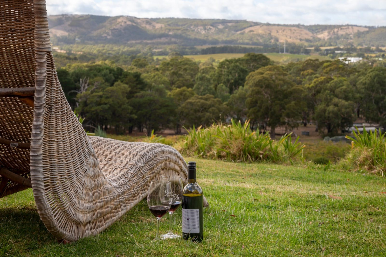 Just sit back and relax overlooking the vineyards and dramatic sellicks escarpment