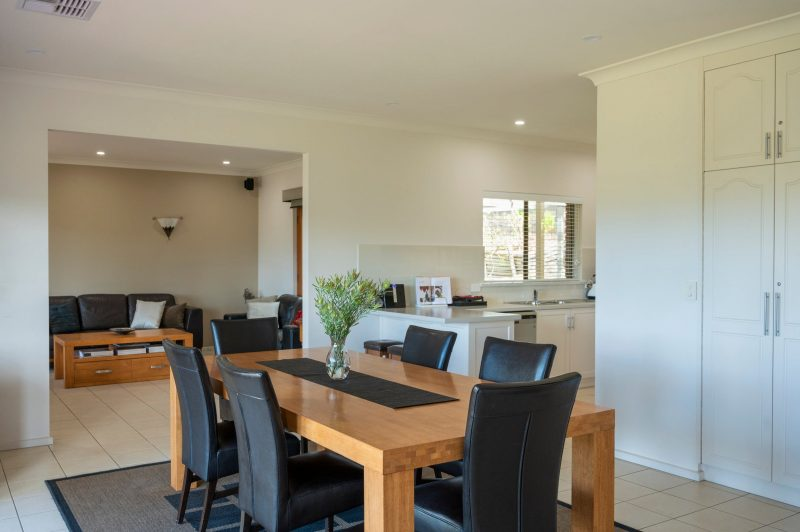 Fully equipped kitchen and all required for the intimate dinner party or local produce platter