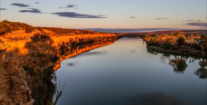 Shear cliff faces along the murray River