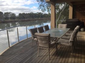 large deck for outdoor dining