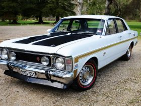 A magnificently restored 1969 Falcon XWGT-HO PHASE I owned by a member of the Falcon GT Club of SA.