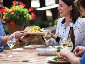 Enjoying Food & Wine at Pikes
