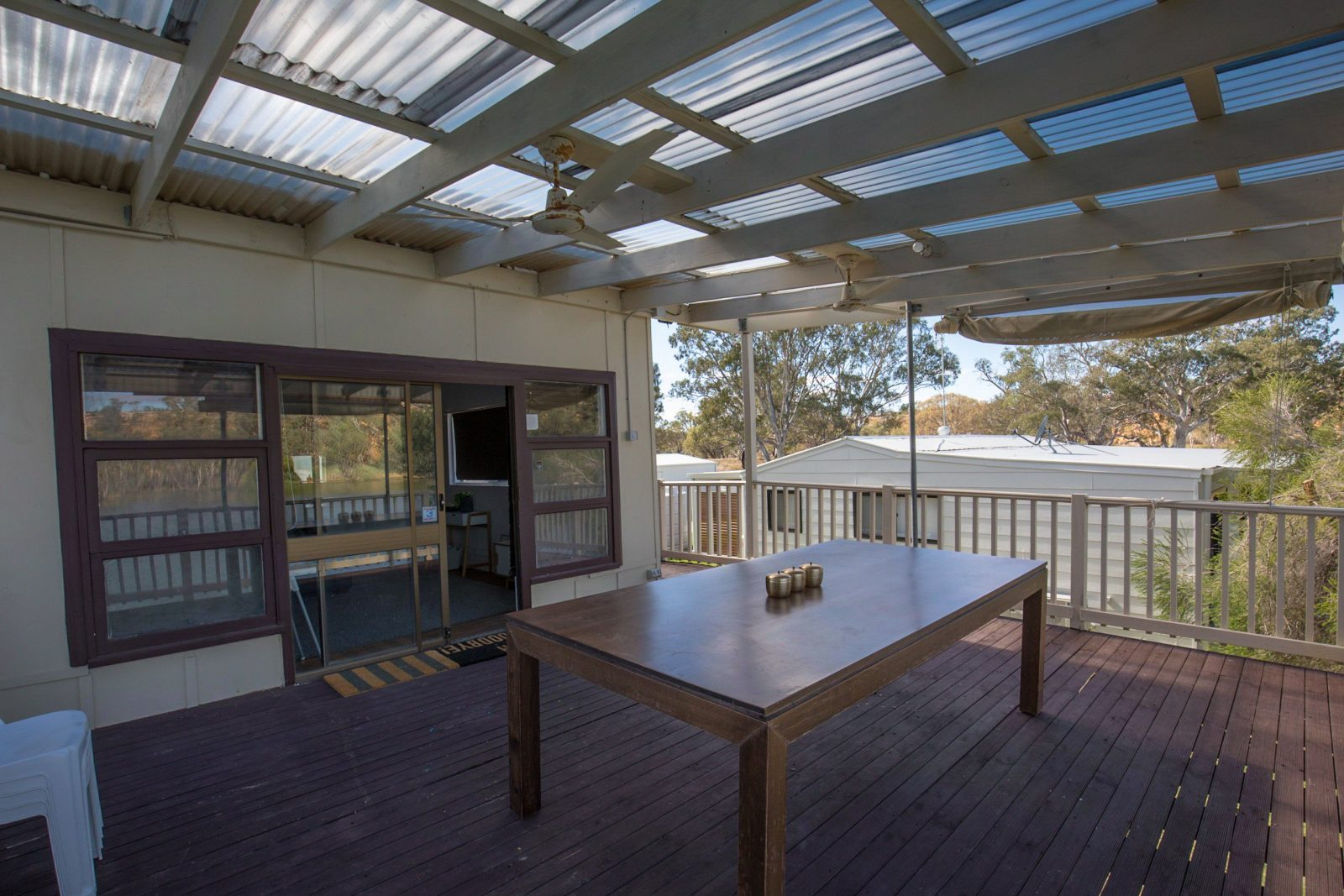 dining and decking area