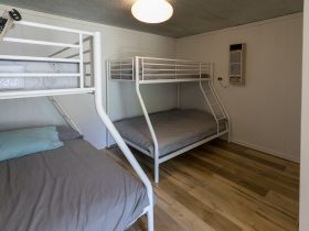 two tri bunks in the sleeping area