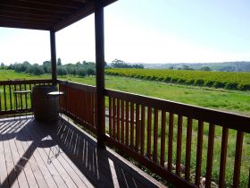 From the downstairs decking you have a lovely view over Mclaren Vale