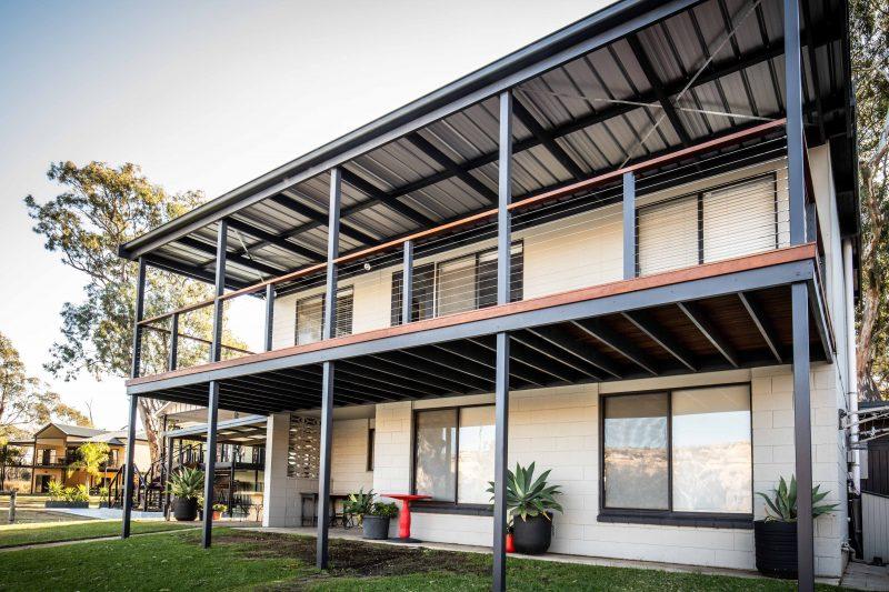 large upstairs decking