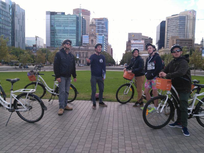 Riders at Victoria Square