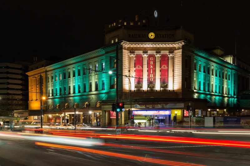 Adelaide Casino - At Night