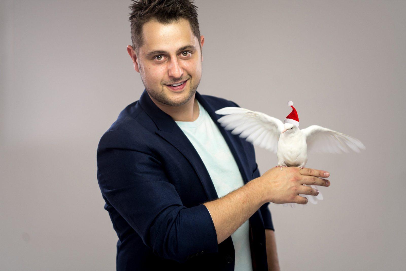 Michael Headshot with Dove
