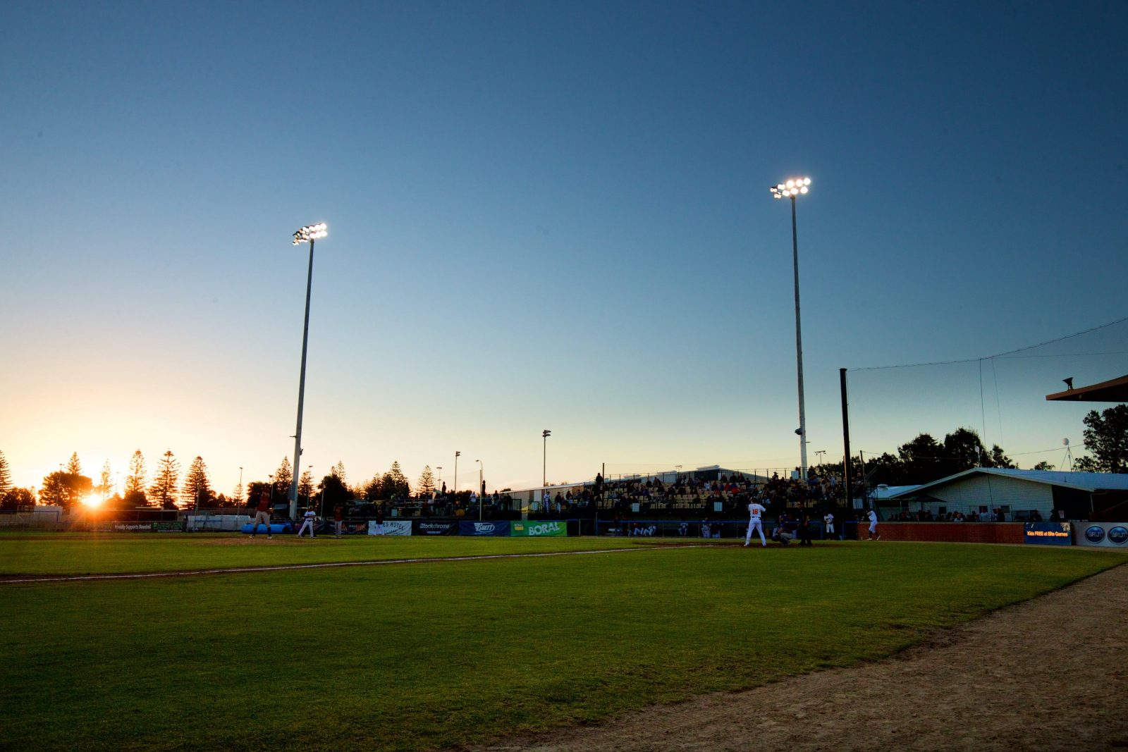 West Beach Parks at sunset during an Adelaide Giants game