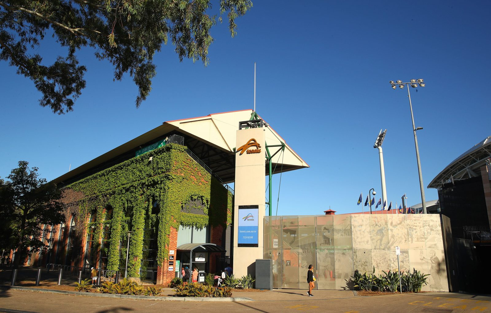 Front view of Tennis SA building