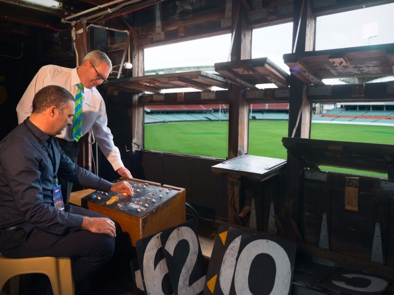 Adelaide Oval Tours - In The Scoreboard