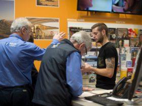 helping visitors, volunteers, tourism, information, brochures