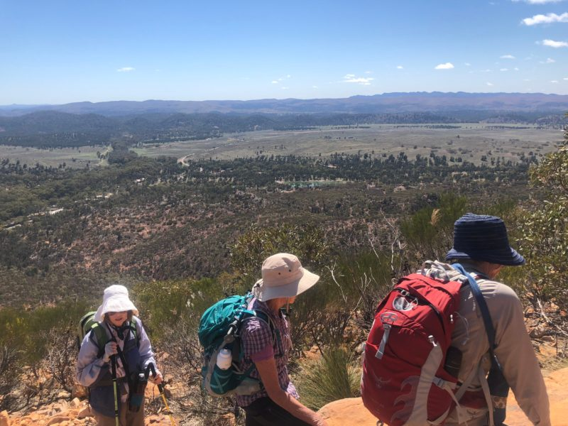 Women looking out over the view from the Flinders Ranges