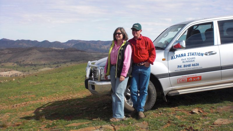 Luxury Landcruiser on Alpana Station at the best end of the Heysen Trail