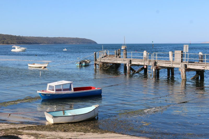 Jetty and wooden boats