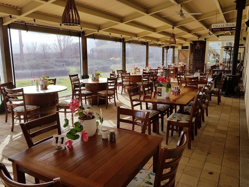 Seating with views at Cellar Door