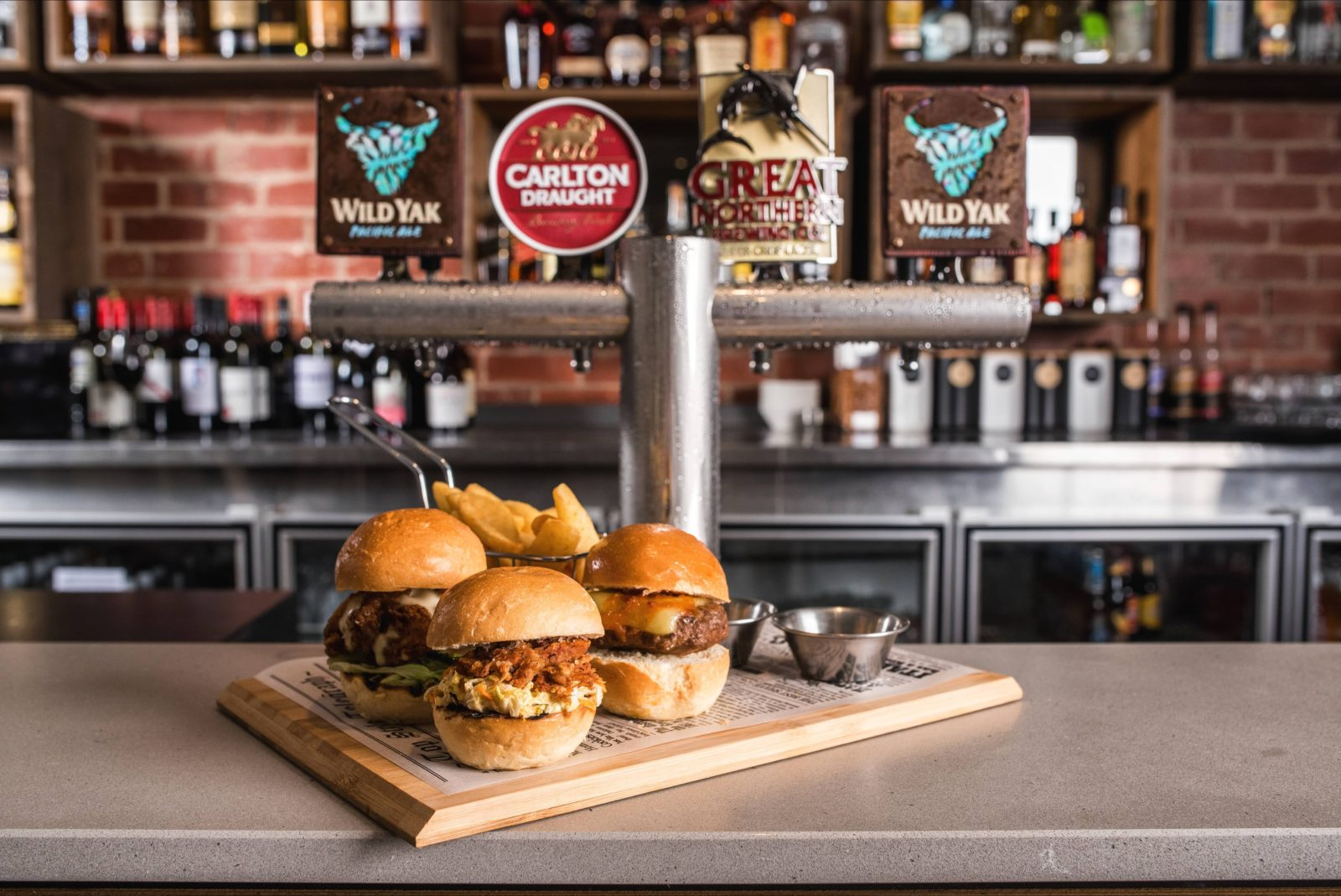Angus & Co. Bar & Grill - trio of sliders