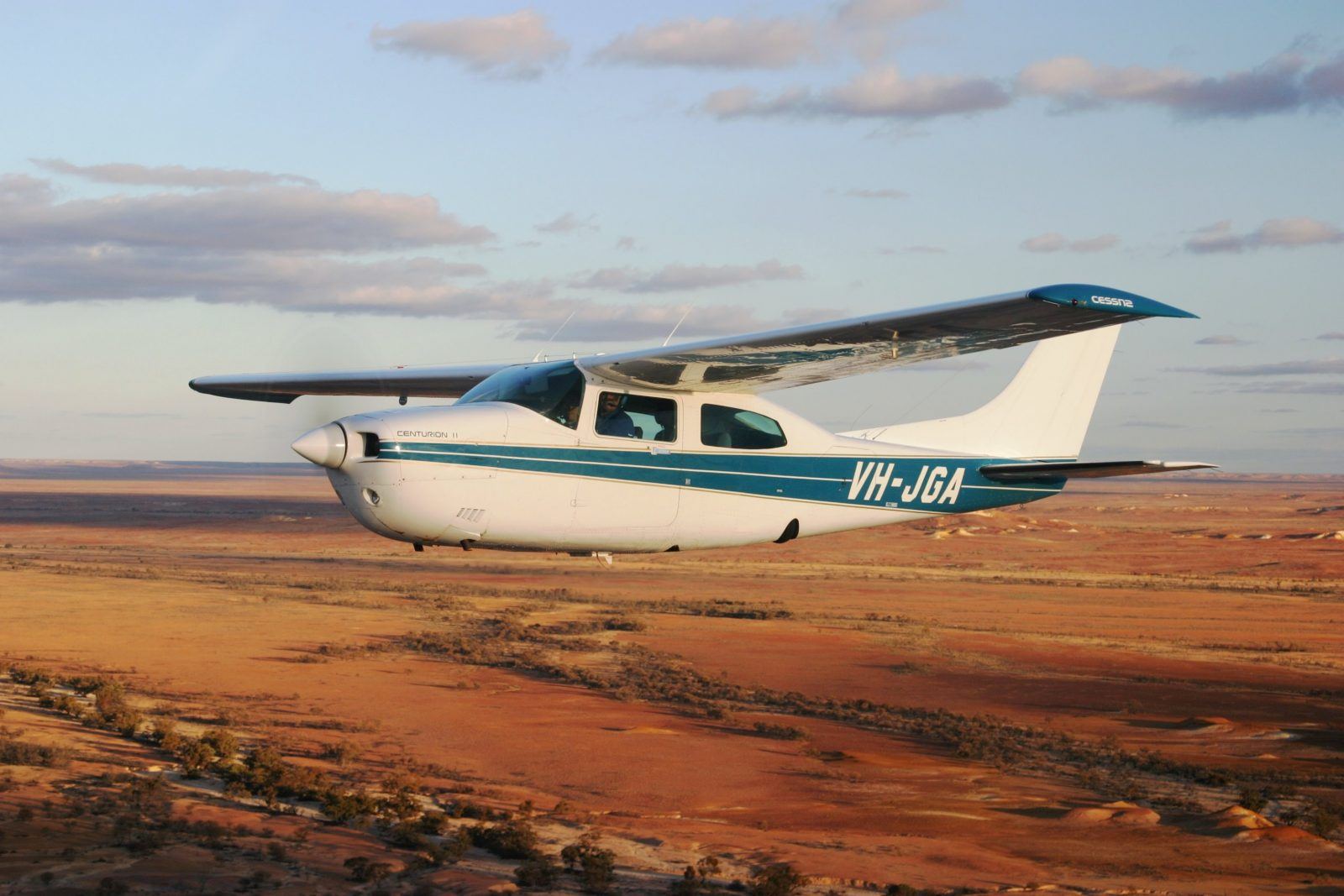 Wrightsair aircraft takes passengers for a scenic flight over spectacular Anna Creek Painted Hills
