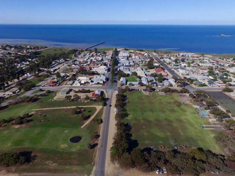 A drone view of Ardrossan