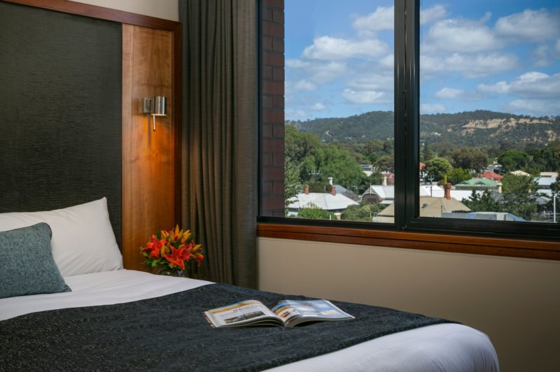 Executive Spa Suite with views of the Adelaide Hills