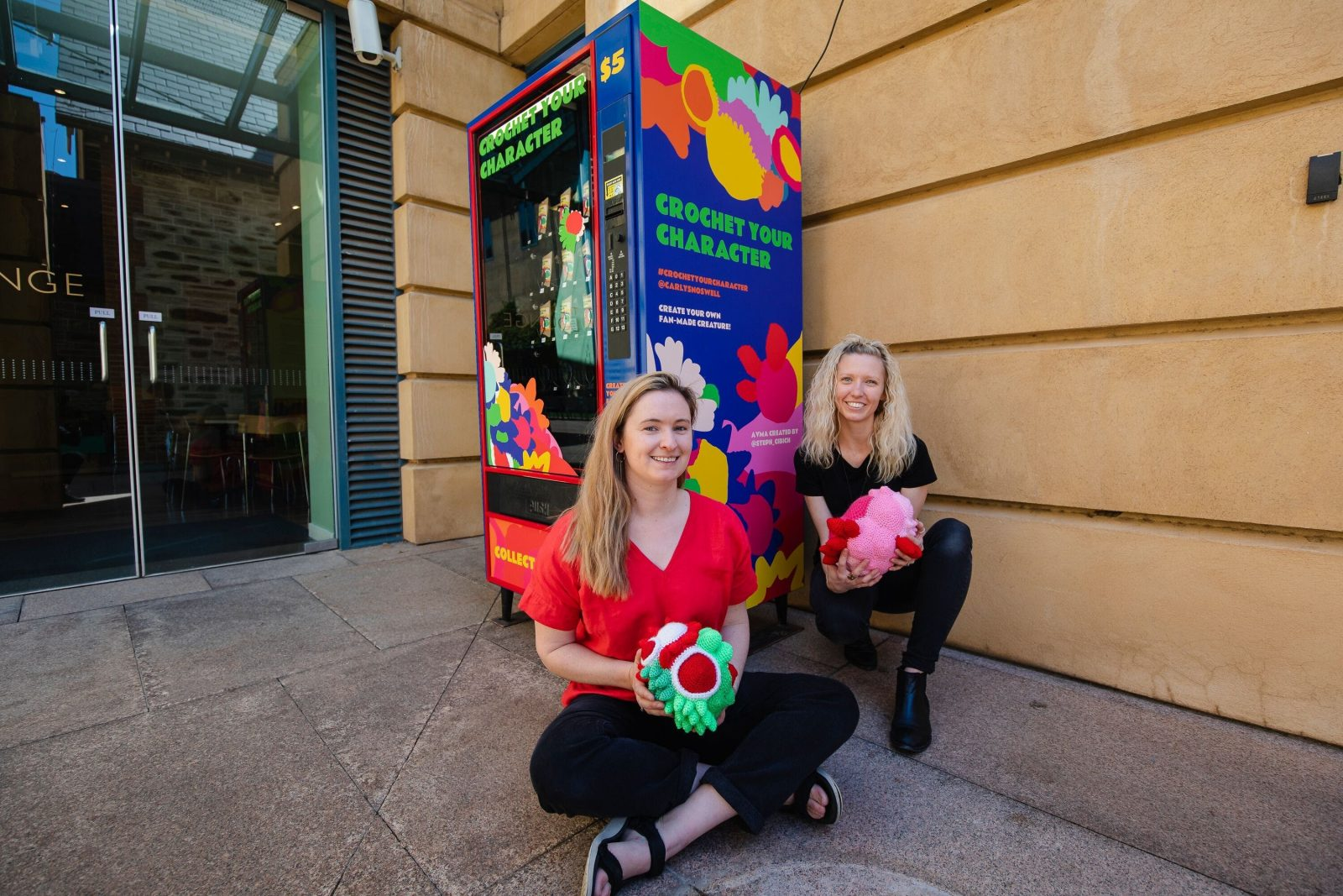AVMA presents 'the Adelaide Art Vending Machine' feat.Carly Snoswell. Photo by Rosina Possingham.