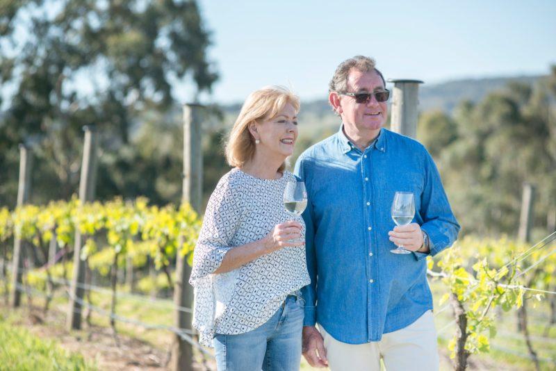 Judy & Glen in the vineyard