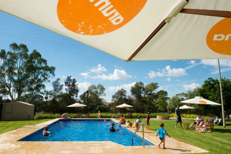 newly renovated solar heated swimming pool